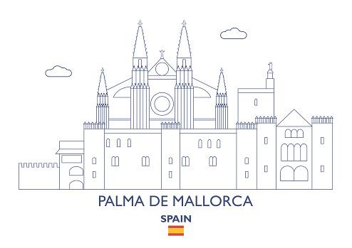 Palma de Mallorca City Skyline, Spain