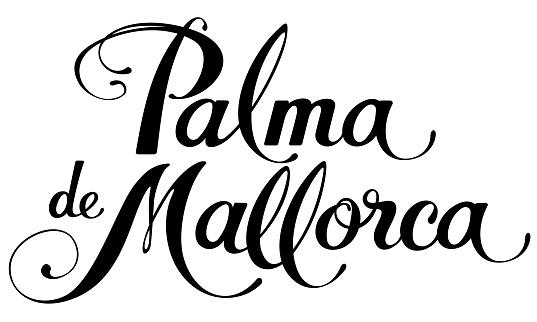 Palma de Mallorca - custom calligraphy text
