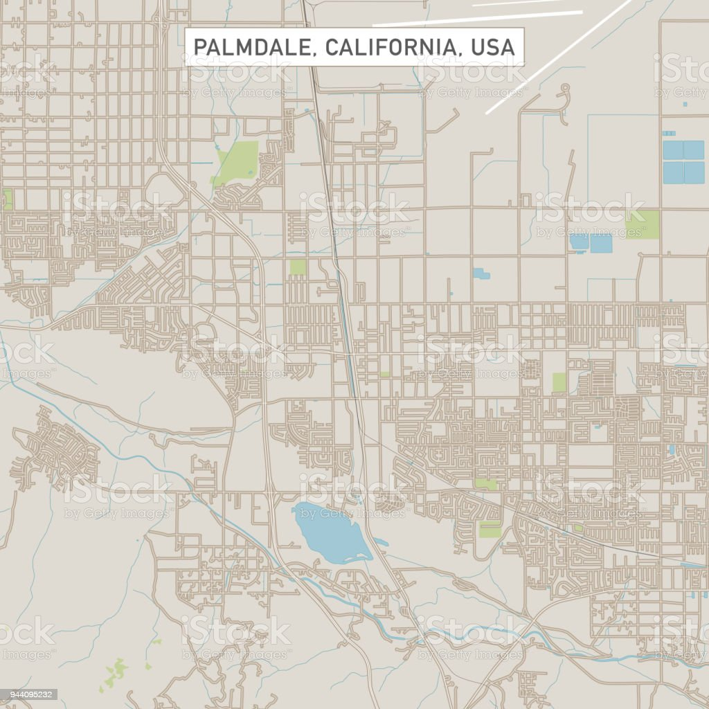 Palmdale California Us City Street Map Stock Illustration - Download ...