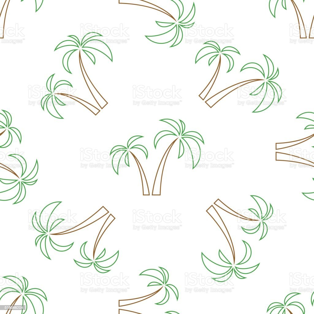palms seamless isolated vector art illustration