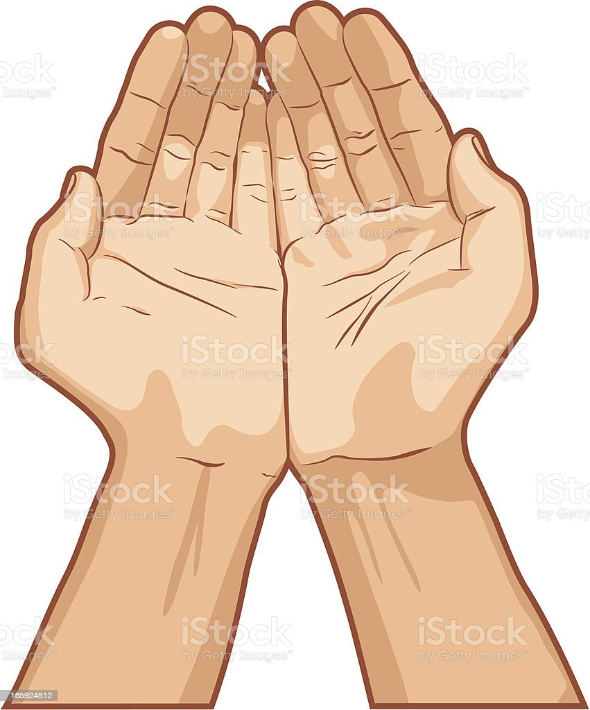 Palms Together Hand Gesture royalty-free palms together hand gesture stock vector art & more images of arms outstretched