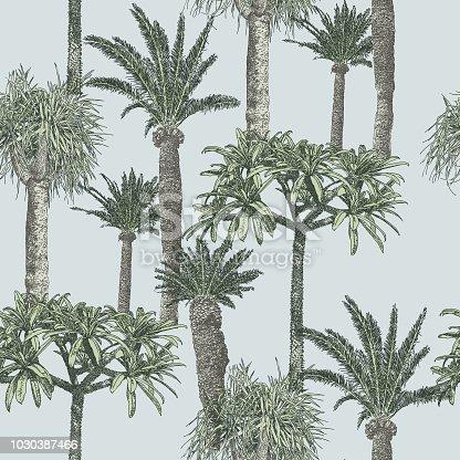 Palmtree Repeat Pattern
