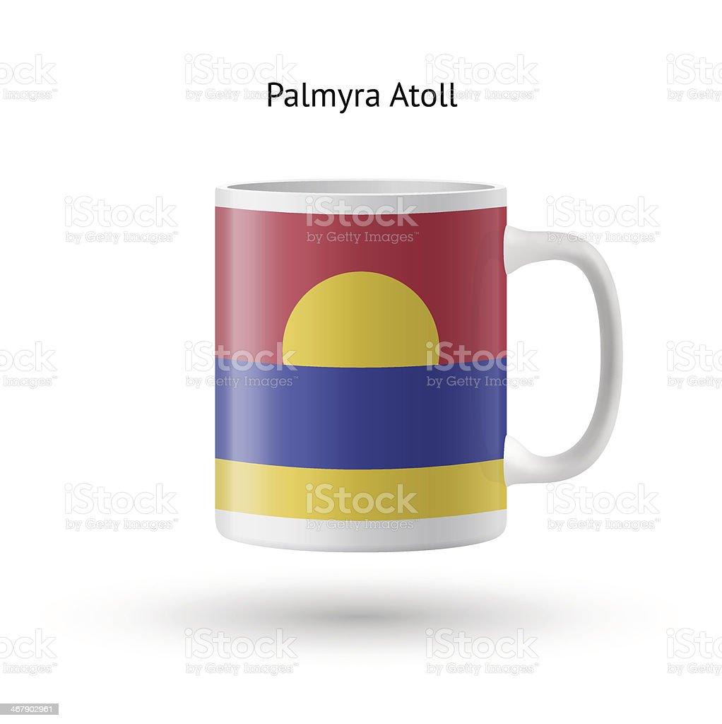 Palmyra Atoll flag souvenir mug on white background. royalty-free stock vector art