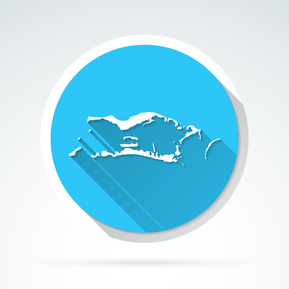 Palmyra Atoll map icon - Flat Design with Long Shadow