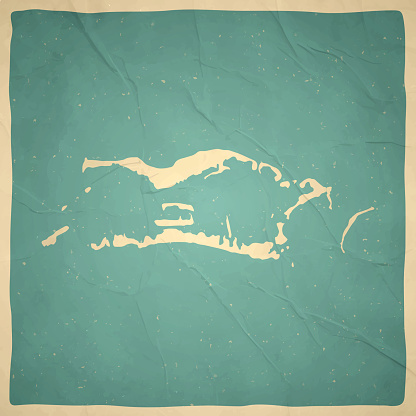 Palmyra Atoll map in retro vintage style - Old textured paper