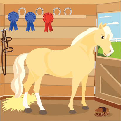 Palomino in a Stable