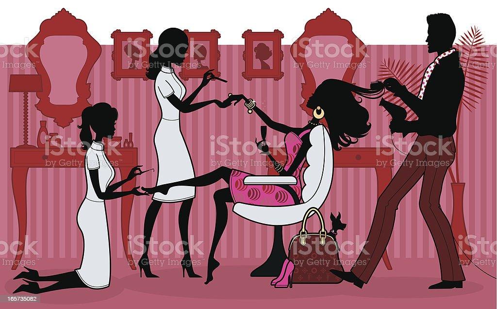 Pampered Princess vector art illustration