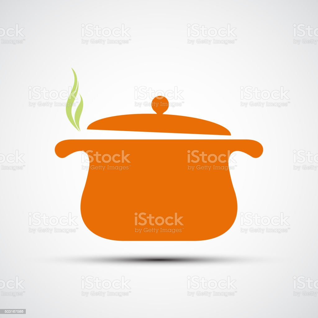Pan for cooking. vector art illustration
