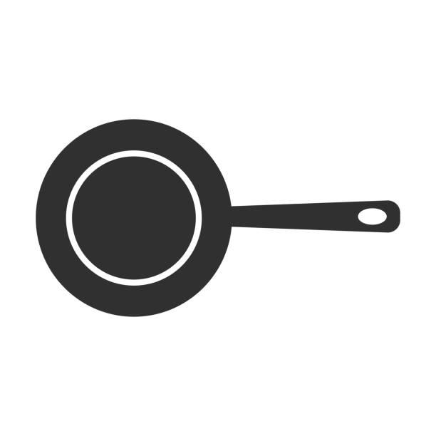 bildbanksillustrationer, clip art samt tecknat material och ikoner med panoreringsikonen är isolerad på vit bakgrund. vektor illustration. - frying pan