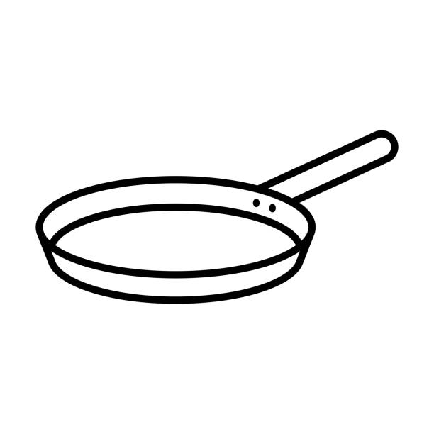 Pan icon, vector illustration Vector illustration frying pan stock illustrations