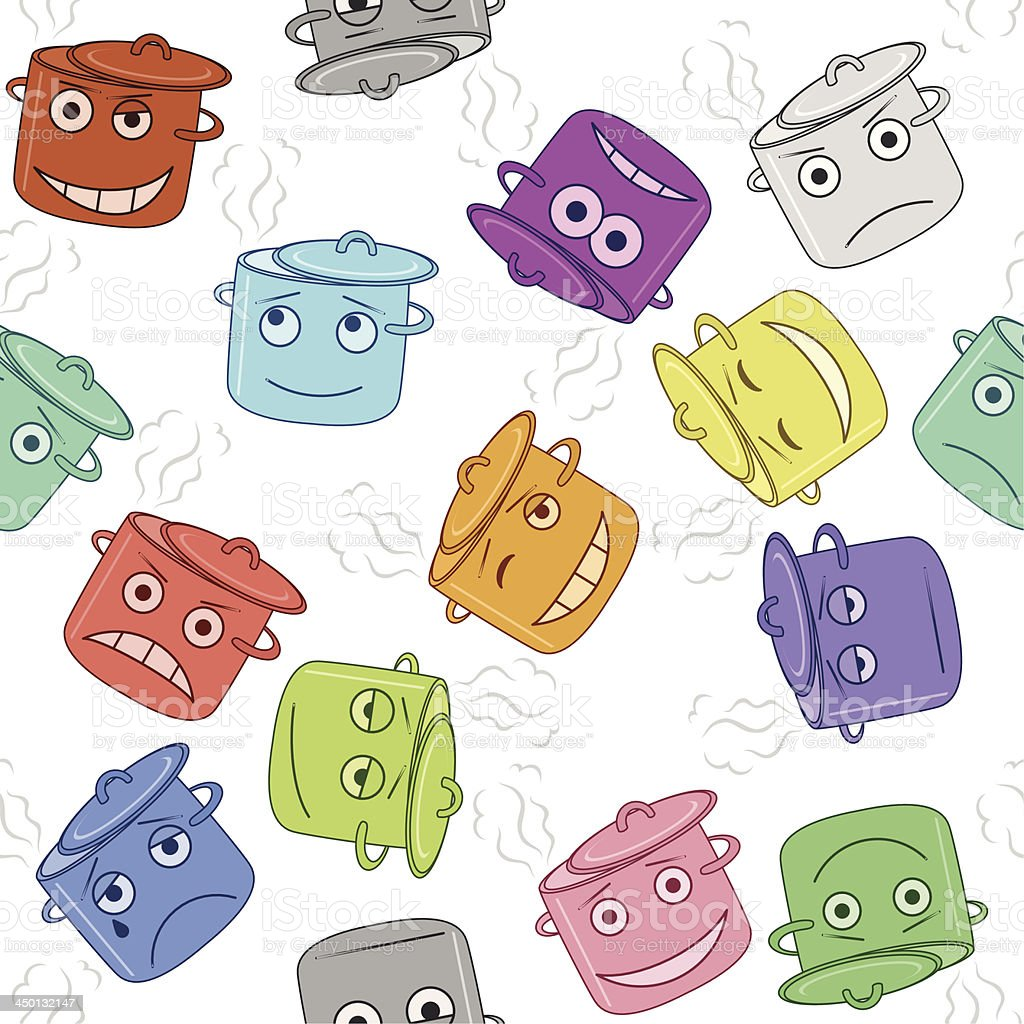 Pan smilies, seamless royalty-free stock vector art