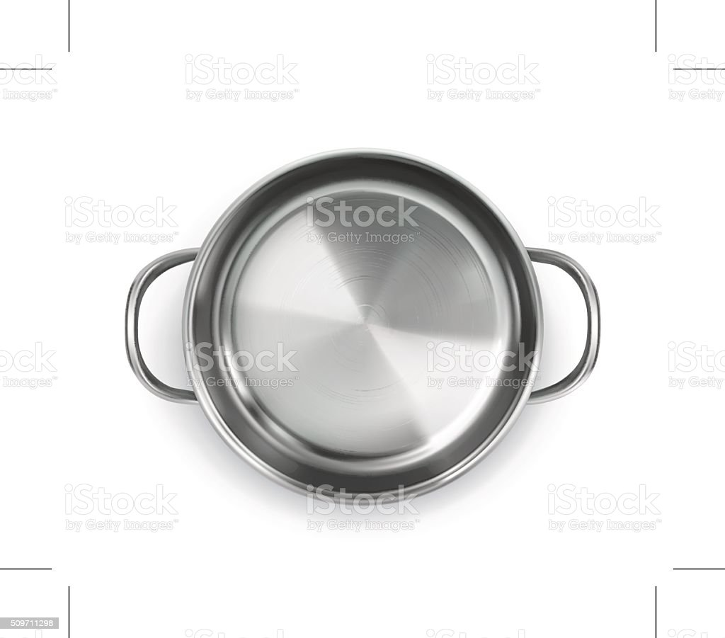 Pan, top view object vector art illustration