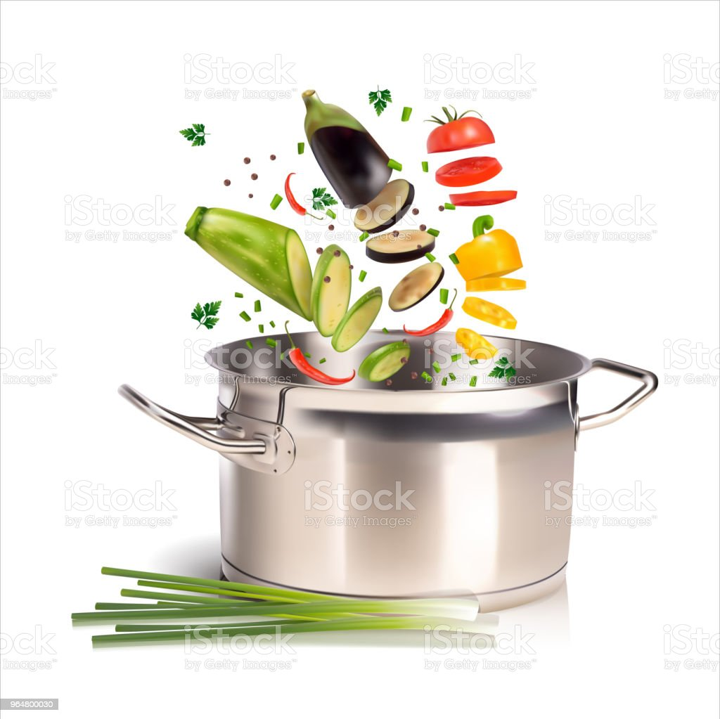 pan with vegetables on a white background royalty-free pan with vegetables on a white background stock vector art & more images of cooking pan