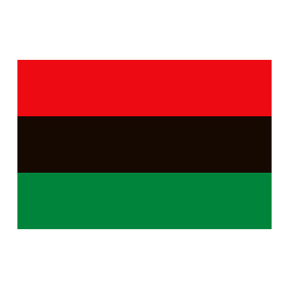 Pan-African Flag Icon on Transparent Background