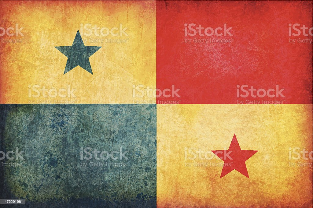 Panama grunge flag royalty-free stock vector art