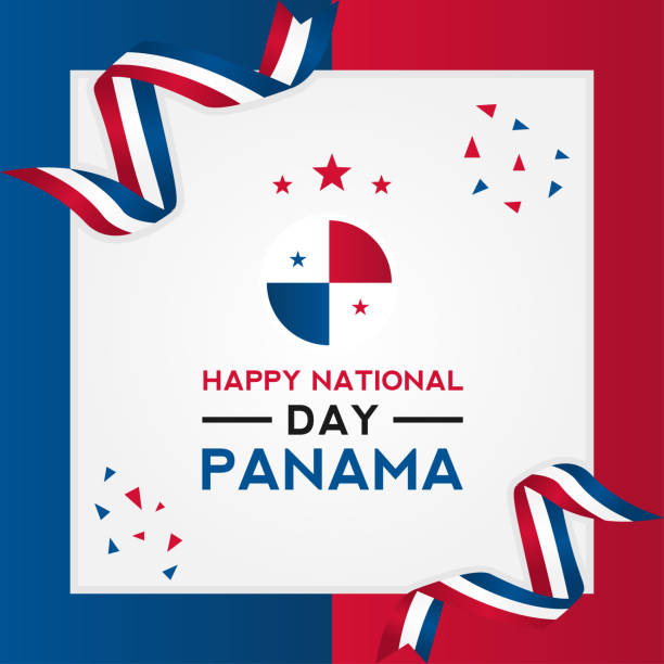 Panama Independence Day Vector Design Template vector art illustration