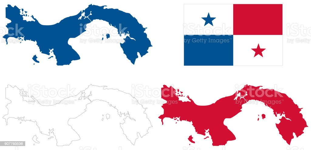 Panama Map And Flag Stock Illustration - Download Image Now ...