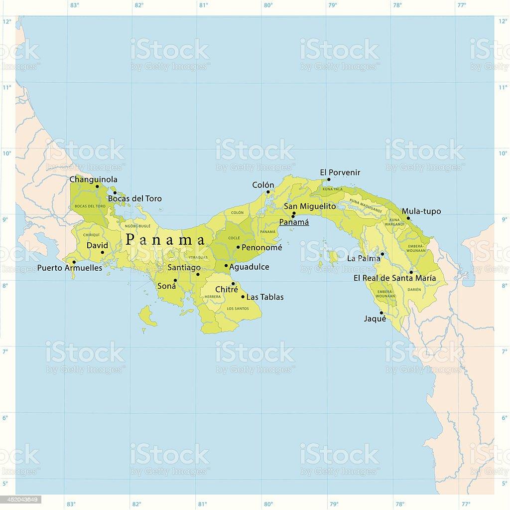 Panama Vector Map Stock Vector Art IStock - Panama map vector