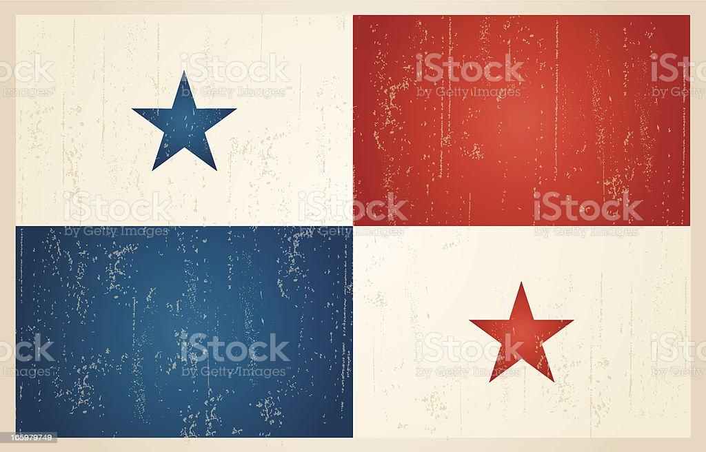 Panamanian grunge vintage flag royalty-free stock vector art