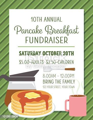 Pancake Breakfast Fundraiser Poster Template