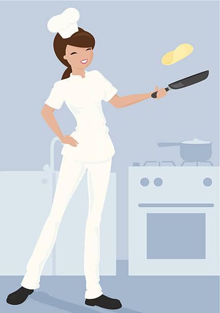 bildbanksillustrationer, clip art samt tecknat material och ikoner med pancake chef - crepe