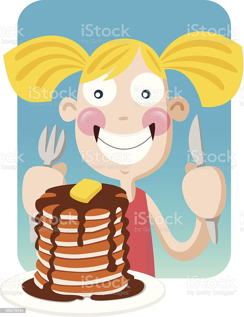 Pancake Girl royalty-free stock vector art