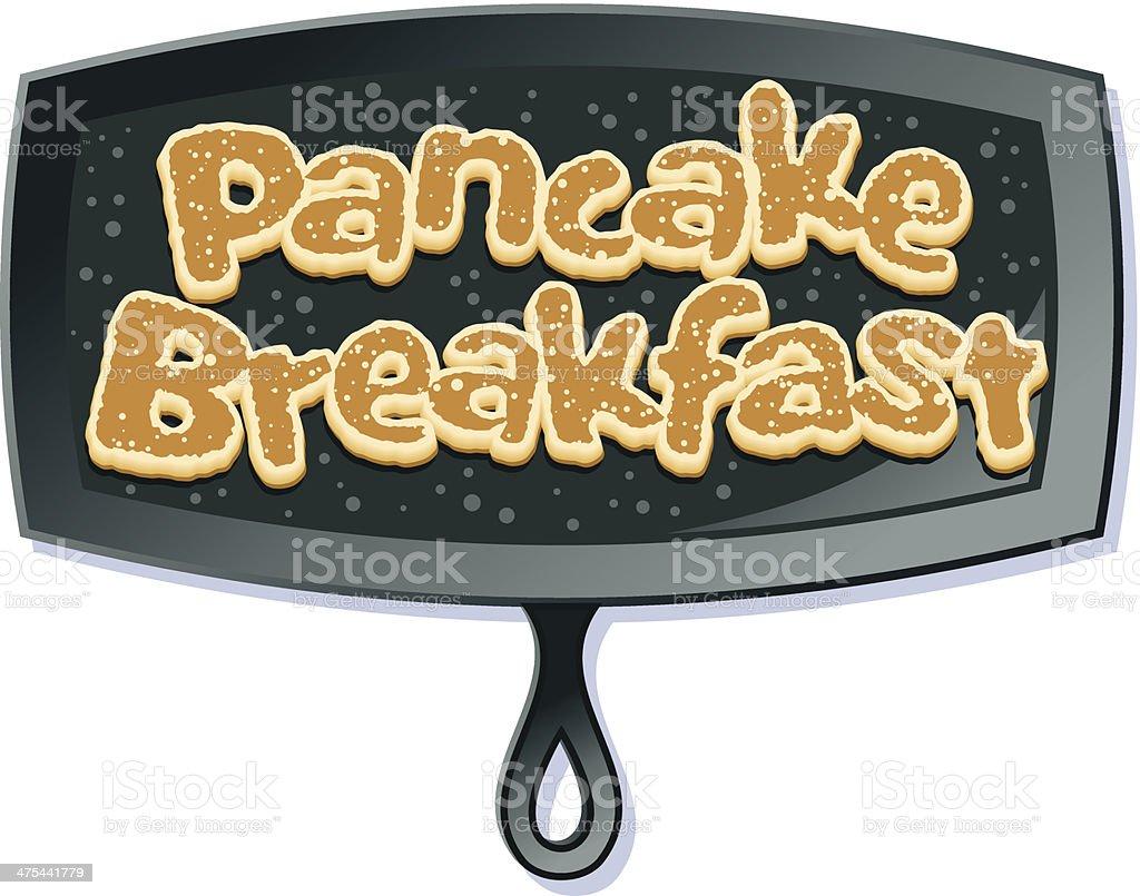 Pancake Heading C vector art illustration