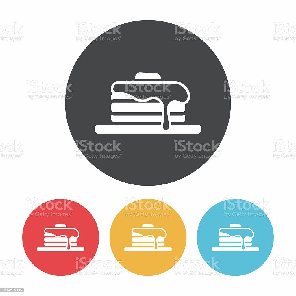 pancake icon vector art illustration