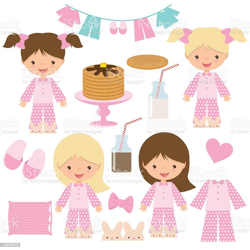 Pancake party vector illustration vector art illustration