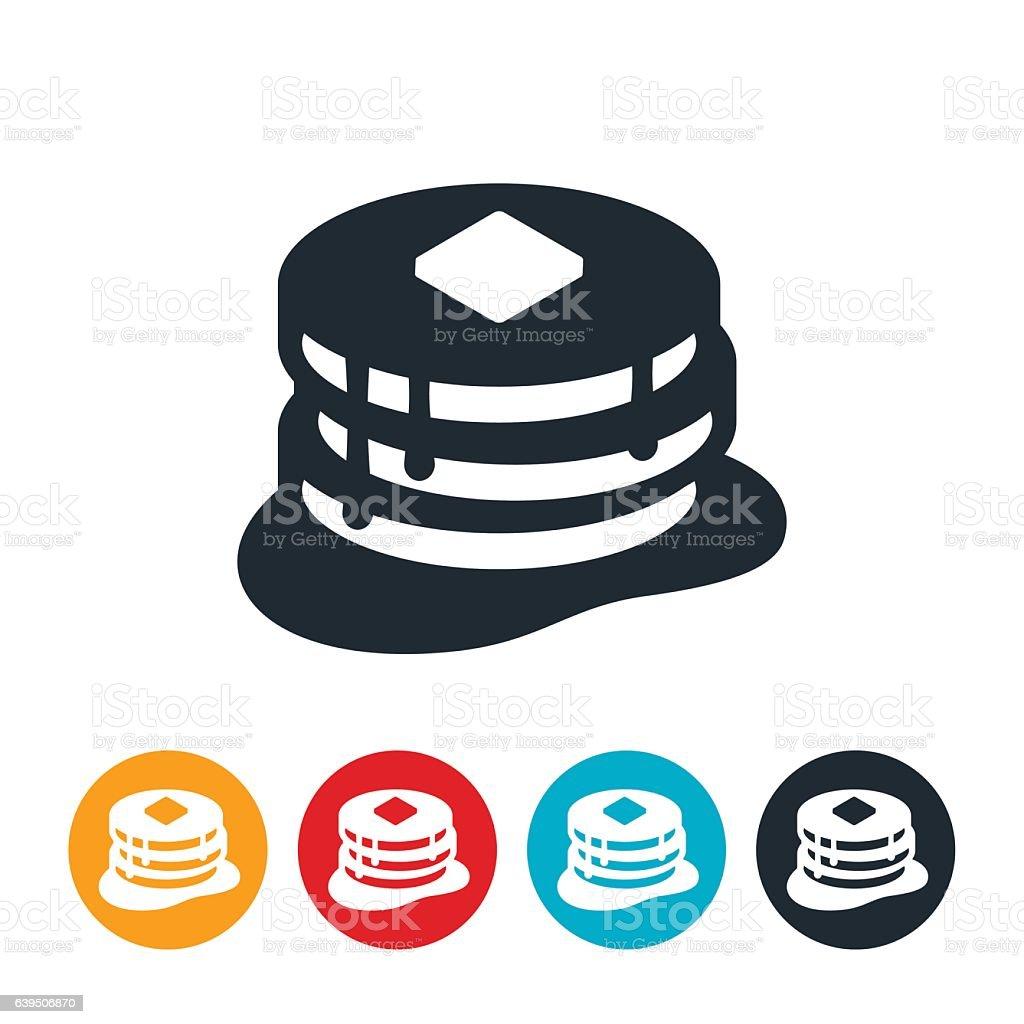 Pancakes Icon vector art illustration