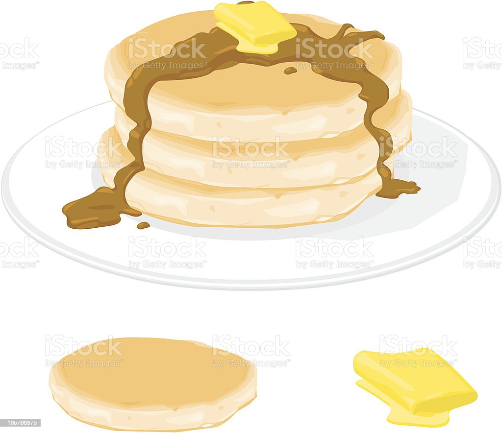 Pancakes royalty-free stock vector art