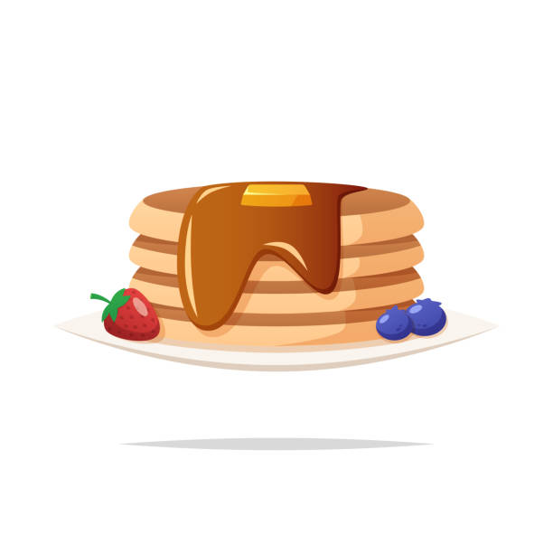Pancakes vector isolated illustration vector art illustration