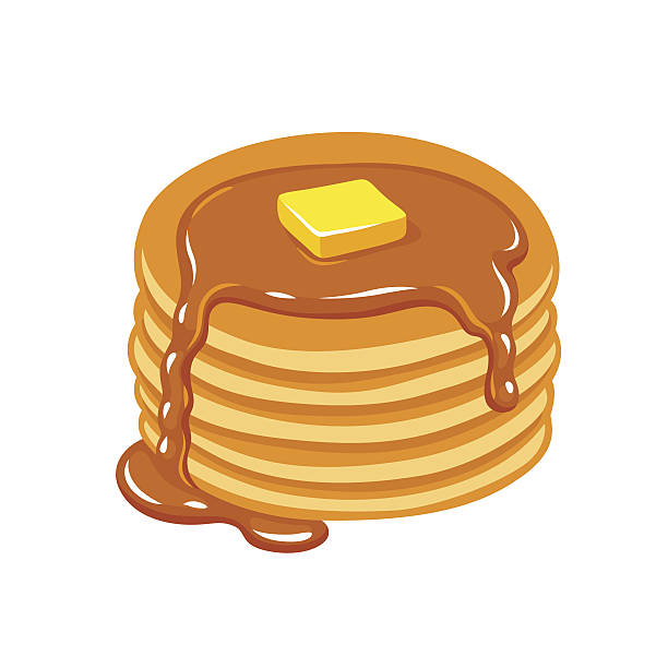 Royalty free pancake clip art vector images illustrations istock pancakes with butter and syrup vector art illustration ccuart Images