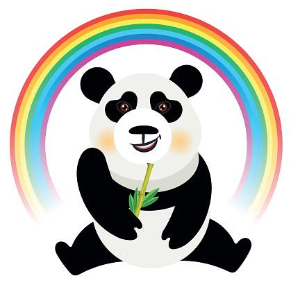 Panda and Rainbow