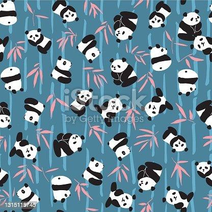 istock Panda Bamboo Seamless Pattern 1315118745