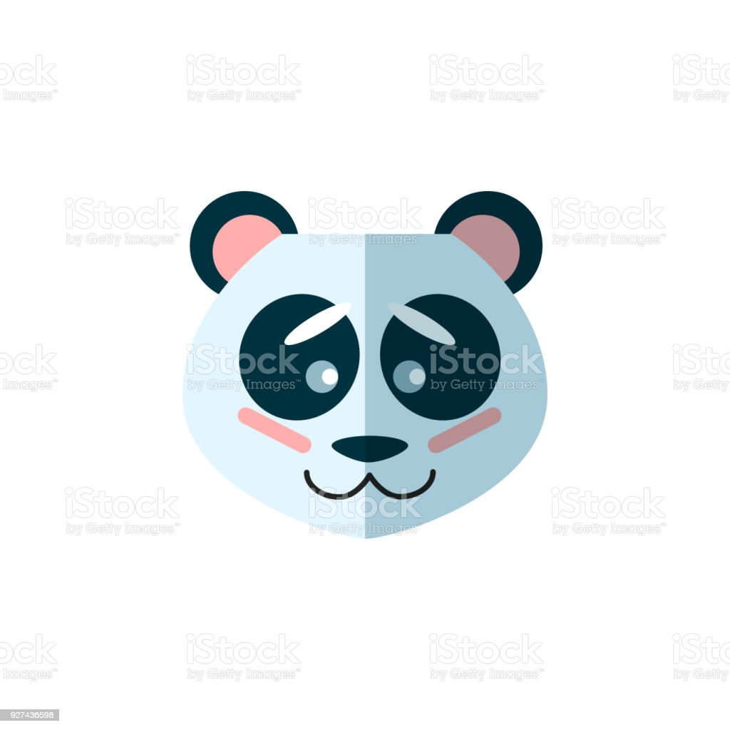 panda bear animal icon logo vector art for web veterinary clinic grocery