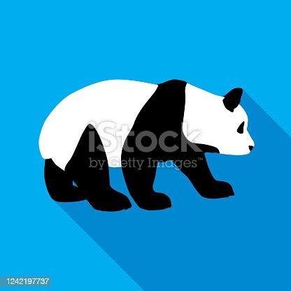 istock Panda Bear Icon 1242197737