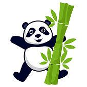 panda bear insignia isolated on white background. vector illustration