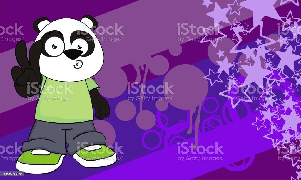 panda bear kid cartoon expression background royalty-free panda bear kid cartoon expression background stock vector art & more images of animal