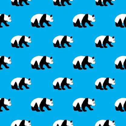 Panda Bear Seamless Pattern