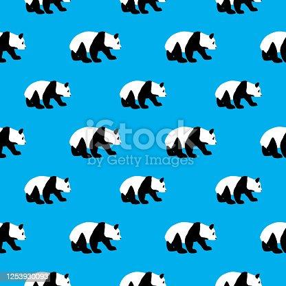 Patrón sin costuras de Panda Bear