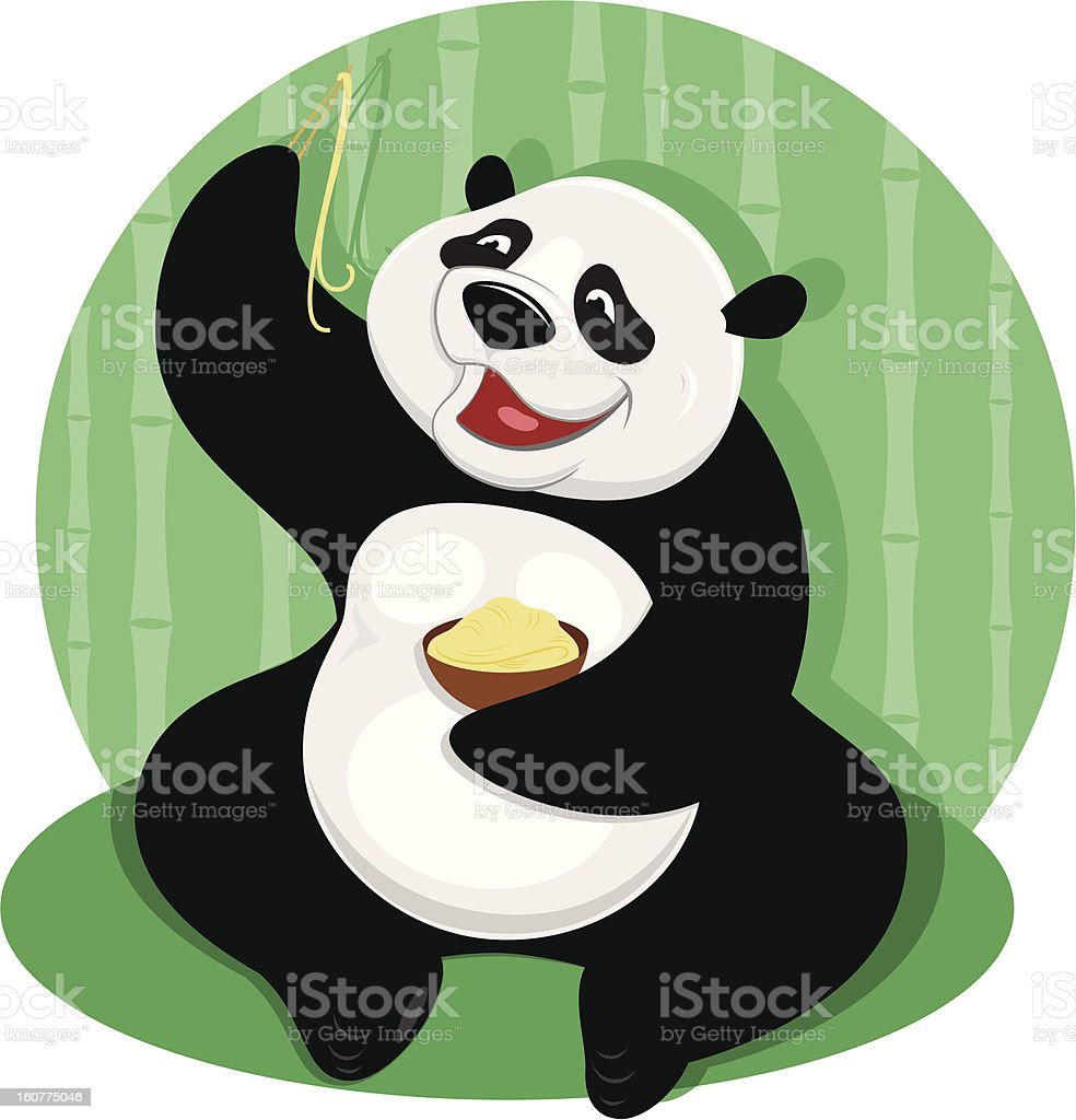 Panda bear with noodles royalty-free panda bear with noodles stock vector art & more images of animal