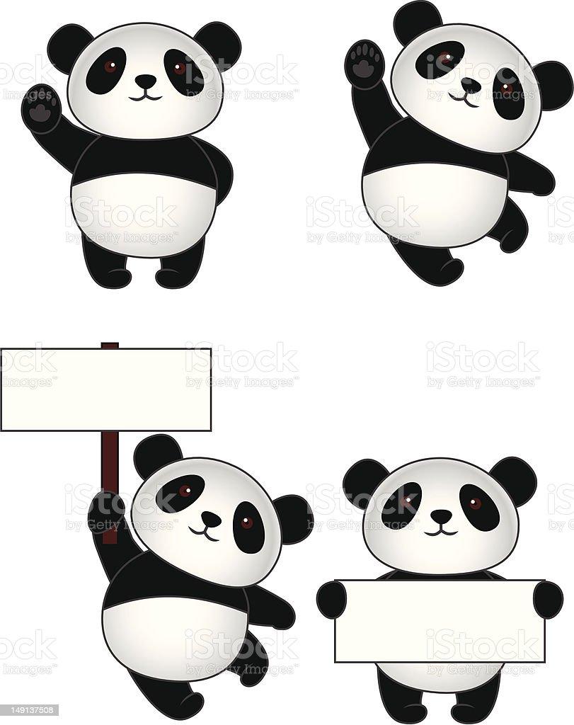 Collection de dessin anim panda cliparts vectoriels et - Dessins de panda ...