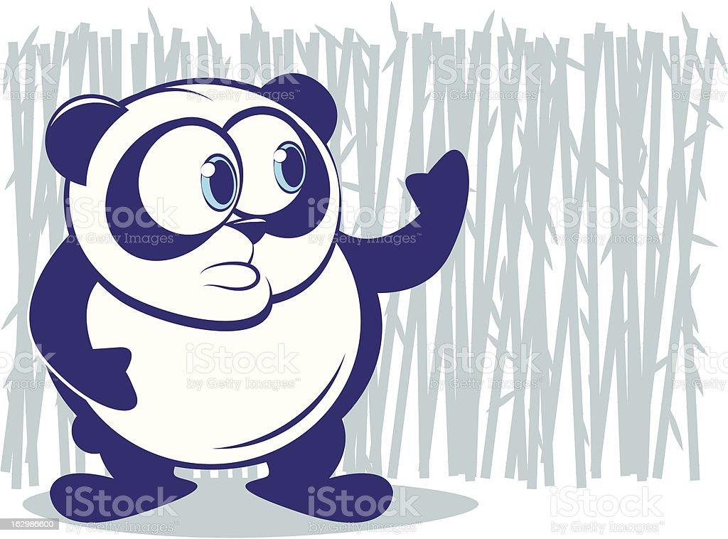 Panda Cartoon royalty-free stock vector art