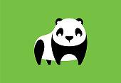 vector illustration of panda character