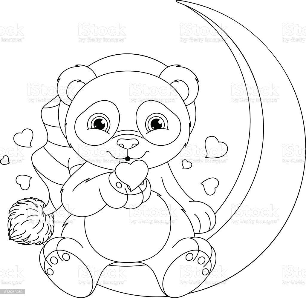 Ilustración de Panda Para Colorear Página y más banco de imágenes de ...