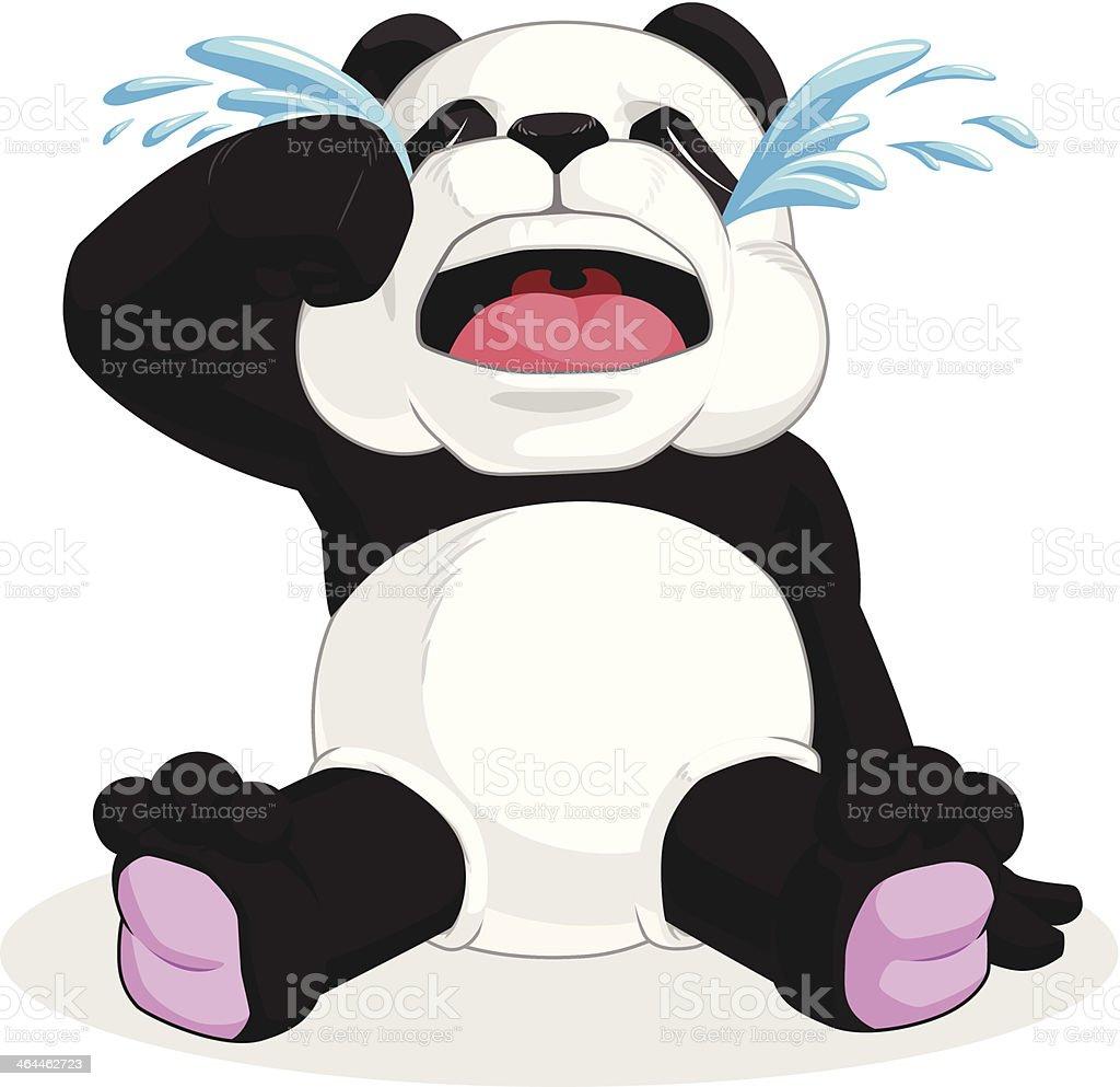 Panda Crying royalty-free stock vector art