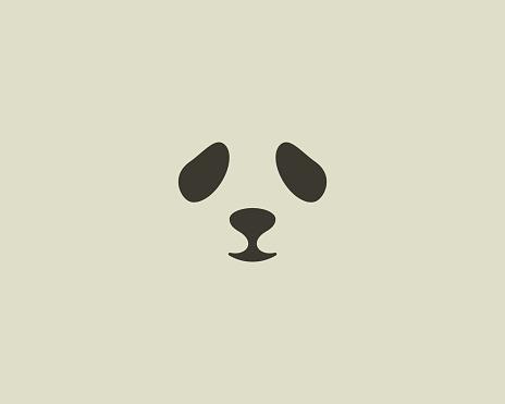 Panda face vector emblem. Seal emblemtype. Sea lion zoo symbol icon design