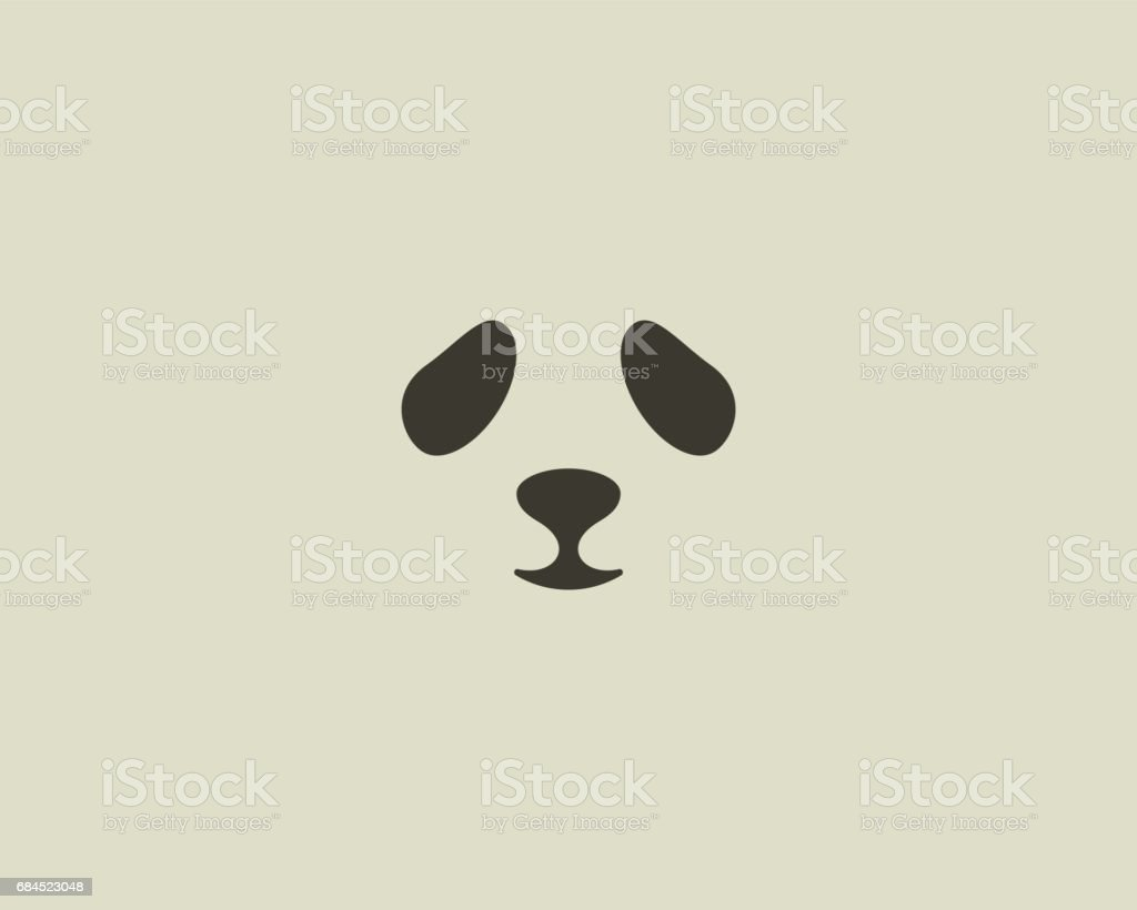 Panda face vector emblem. Seal emblemtype. Sea lion zoo symbol icon design vector art illustration