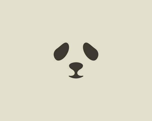 Panda face vector emblem. Seal emblemtype. Sea lion zoo symbol icon design vector art illustration